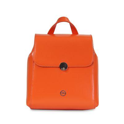 Mochila con Herraje en Color Naranja
