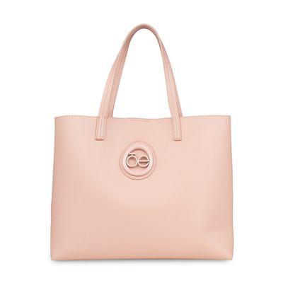Bolsa Tote con Bolsillo Interno en Color Rosa