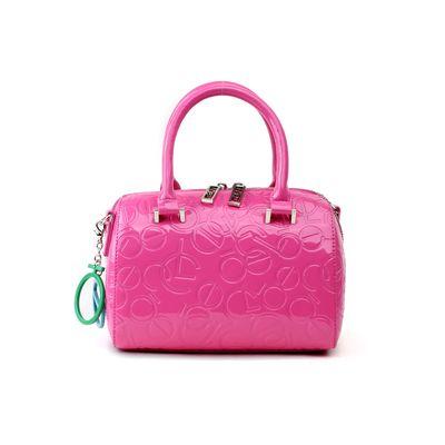 Bolsa Bowling de Charol en Color Rosa
