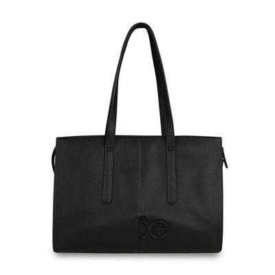 Bolsa Satchel Bicolor en Color Negro