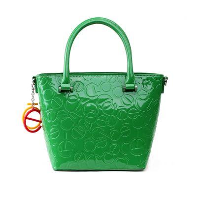 Bolsa Tote de Charol en Color Verde
