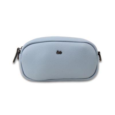 Bolsa Crossbody con Asa Estampada de Trama Icónica en Color Azul