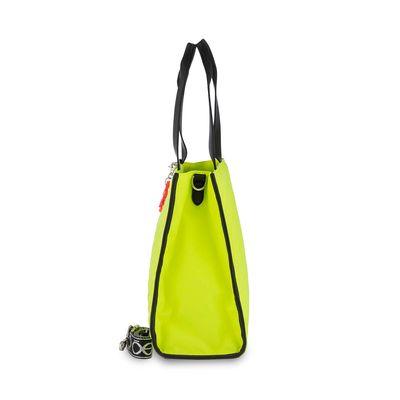 Bolsa Tote con Colgante en Color Amarillo