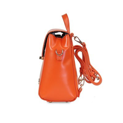Mochila Efecto Pulido en Color Naranja