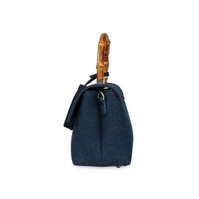 Bolsa Briefcase con Estampado  y Asa de Bambú