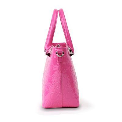 Bolsa Tote de Charol en Color Rosa