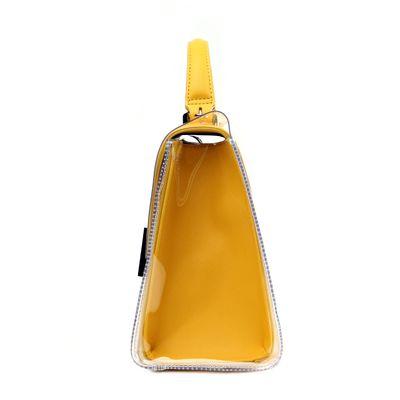 Bolsa Briefcase con Mica Transparente en Color Amarillo