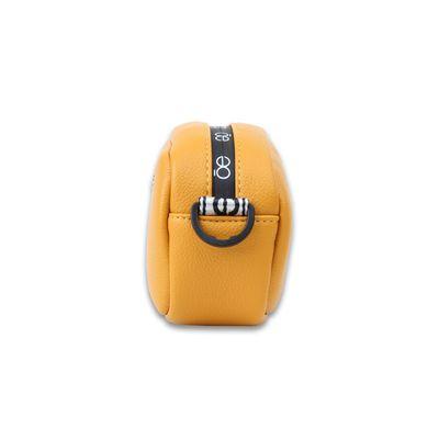 Bolsa Crossbody con Asa Estampada de Trama Icónica en Color Amarillo
