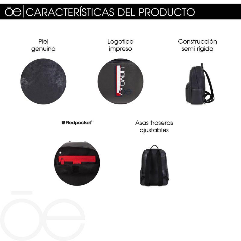Mochila-Porta-Laptop-14--Uomo-de-Piel-en-Color-Negro-|-Cloe