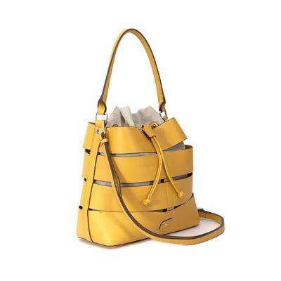 Bolsa Hobbo con Cortes y bolso Interno en Color Ocre