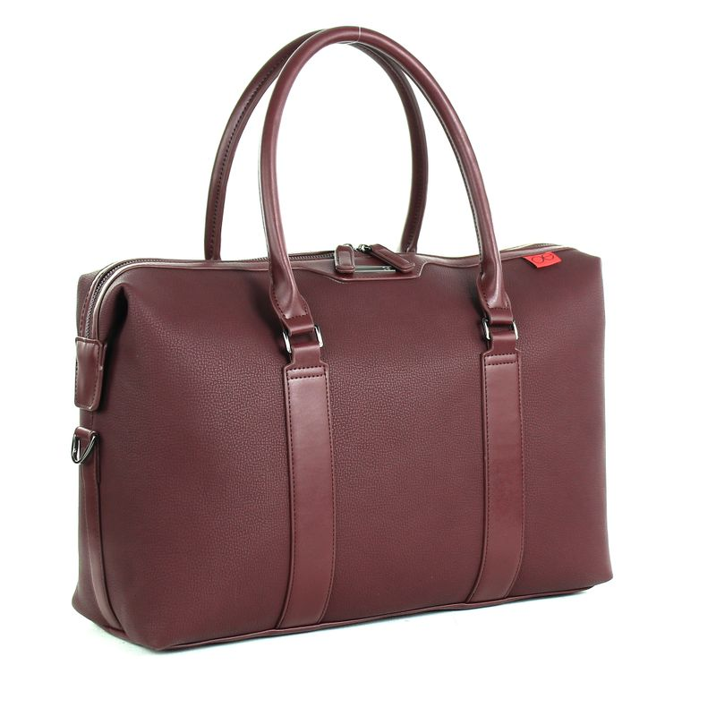 Duffle-Bag-Porta-Laptop-en-Color-Tinto-|-Cloe