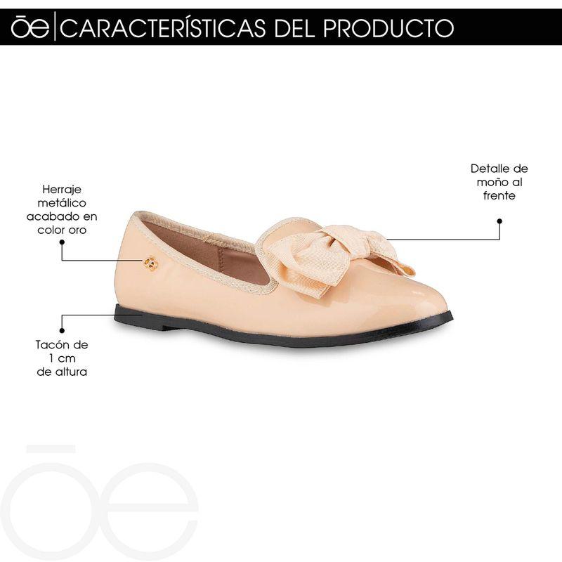 Ballerina-Punta-Redonda-con-Mo�o-en-Color-Negro- -Cloe