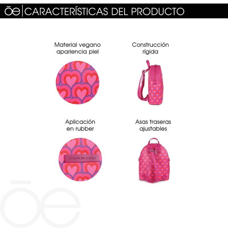 Mochila-Cloe-by-Agatha-Ruiz-de-la-Prada-con-Estampado-de-Corazones-en-Color-Electrico-|-Cloe