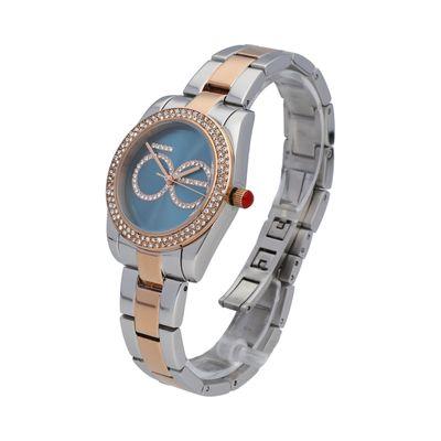 Reloj Detalle Pedrería en Logotipo en Color Azul