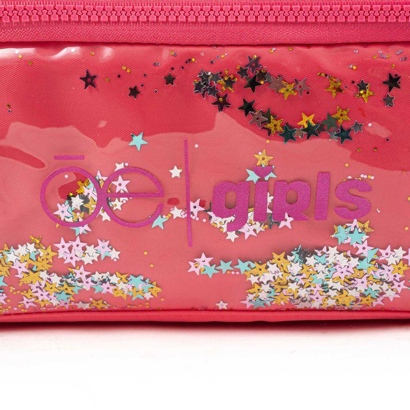 Lonchera-Cloe-Girls-con-Estrellas-y-Pompones-en-Color-Coral-|-Cloe