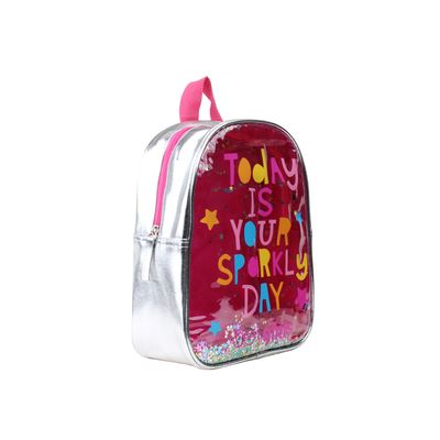 Mochila Cloe Girls Confeti en Color Plata