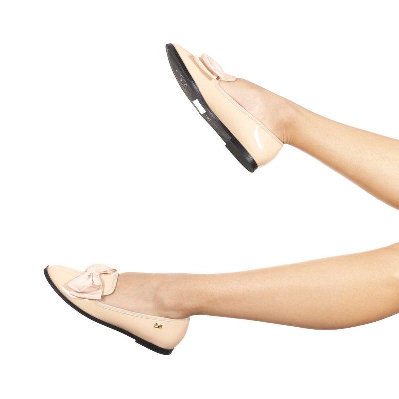 Ballerina-Punta-Redonda-con-Moño-en-Color-Nude- -Cloe