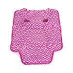Pañalera-Mom---Baby-con-Estampado-Geometrico-en-Color-Magenta-|-Cloe