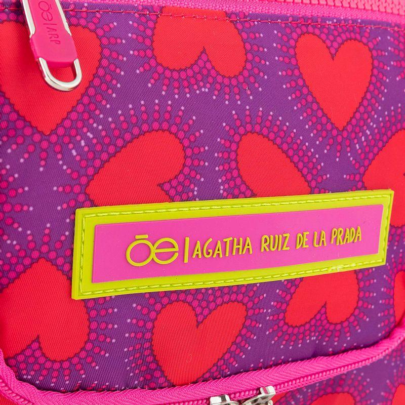 Neceser-Cloe---Agatha-Ruiz-de-la-Prada-Corazones-Magenta-en-Color-Magenta- -Cloe