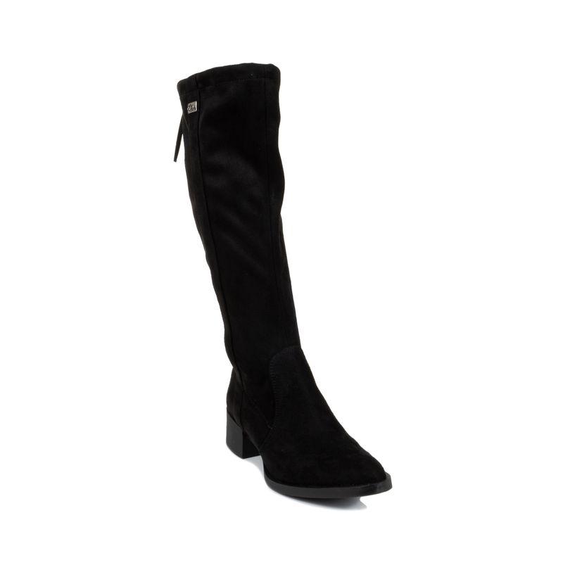 Bota-alta-de-suede-color-negro-en-Color-Negro-|-Cloe