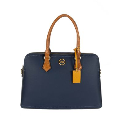 Bolsa Satchel Porta Laptop Color Marino