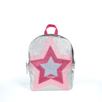 Mochila Cloe Girls Plateada Con Diseño De Estrella