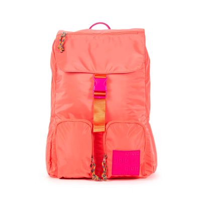 Mochila Porta Laptop 14 Pulgadas Cloe Girls Coral Con Bolsillos Y Broche Al Frente