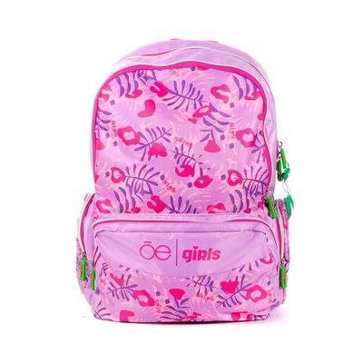Mochila Cloe Girls Con Estampado Rosa Y Morado Con Colgante Decorativo