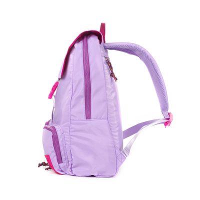 Mochila Porta Laptop 14 Pulgadas Cloe Girls Lila Con Bolsillos Y Broche Al Frente