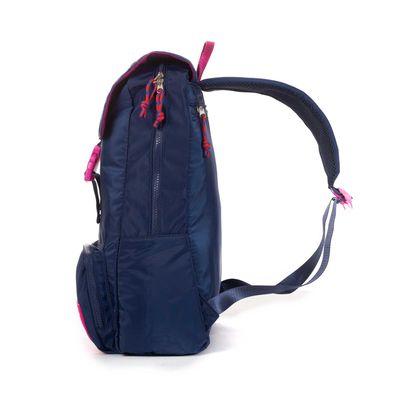 Mochila Porta Laptop 14 Pulgadas Cloe Girls Azul Con Bolsillos Y Broche Al Frente