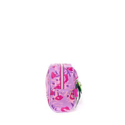 Porta Lápices Cloe Girls Con Estampado Rosa Y Morado Con Colgante Decorativo