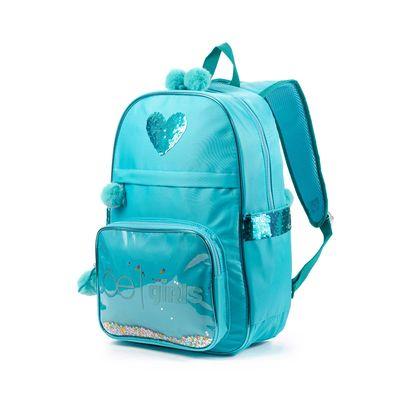 Mochila Porta Laptop 15 Pulgadas Cloe Girls Azul Con Lentejuelas