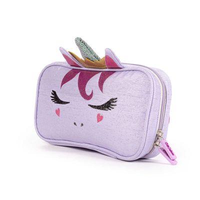 Porta Lápices Cloe Girls Lila Con Diseño De Unicornio