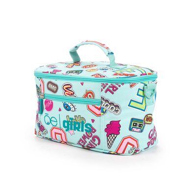 Lonchera Cloe Girls Menta Con Estampado Colorido Y Colgante Decorativo