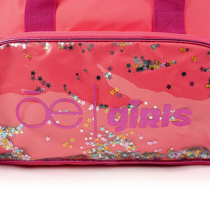 Mochila-Duffle-Bag-Cloe-Girls-Coral-con-Lentejuelas-y-Pompones-en-Color-Coral- -Cloe