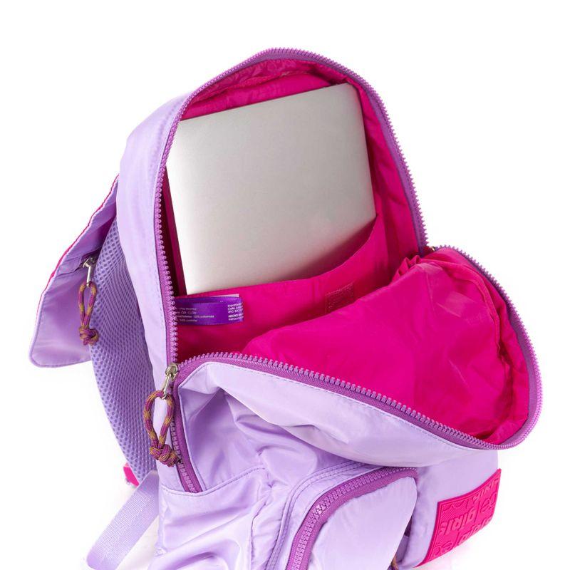 Mochila-Porta-Laptop-14-Pulgadas-Cloe-Girls-Lila-con-Bolsillos-y-Broche-al-Frente-en-Color-Lila-|-Cloe