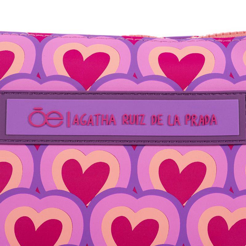 Set-de-cosmetiqueras-Cloe-y-Agatha-Ruiz-de-la-Prada-con-Corazones-en-Color-Morado-|-Cloe
