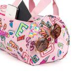 Mochila-Duffle-Bag-Cloe-Girls-Rosa-con-Estampado-Colorido-y-Colgante-Decorativo-en-Color-Rosa-|-Cloe