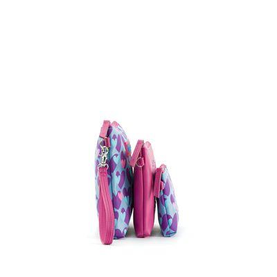 Set Cosmetiqueras 3 en 1 Cloe by Agatha Ruiz de la Prada con Corazones en Color Azul