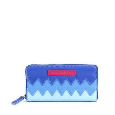 Billetera Cloe & Agatha Ruiz De La Prada Cierre Sencillo Azul Con Zigzag
