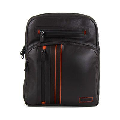 Backpack Porta Laptop De Piel Con Detalles Deportivos