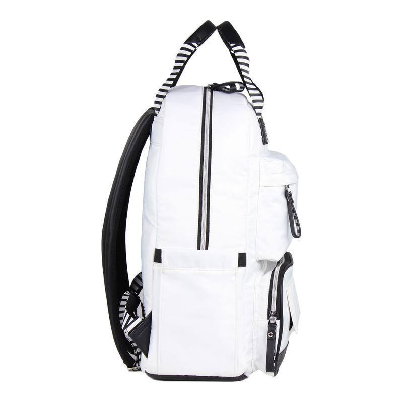 Backpack-pañalera-Cloe-Mom---Baby-blanca-con-rayas-en-Color-Blanco- -Cloe