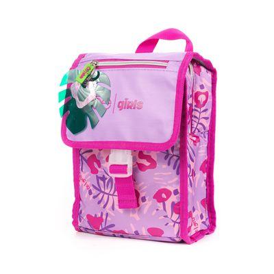 Lonchera Cloe Girls Con Estampado Rosa Y Morado Con Colgante Decorativo