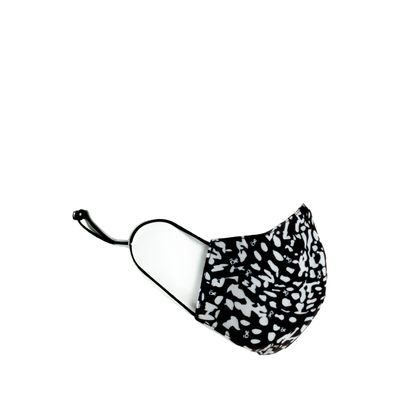 Cubrebocas Ergonómico Doble Vista Animal Print Color Negro