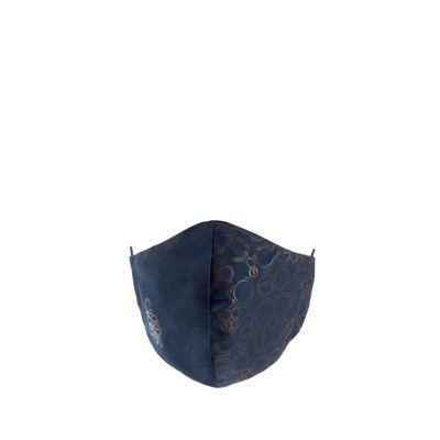 Cubrebocas Ajustable Doble Print Color Azul Marino