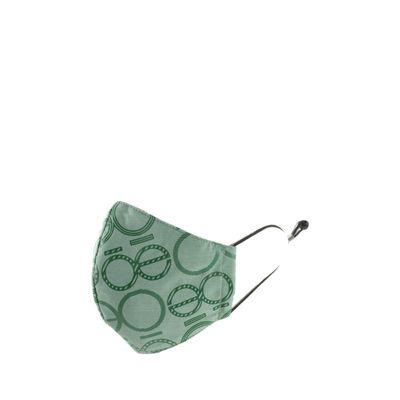 Cubrebocas Ajustable Print Color Verde Olivo