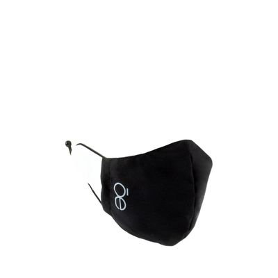 Cubrebocas Ajustable Color Negro