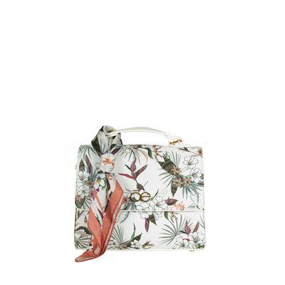 Bolsa Briefcase con Mascada de Flores