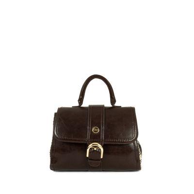 Briefcase con Tweed en Color Chocolate