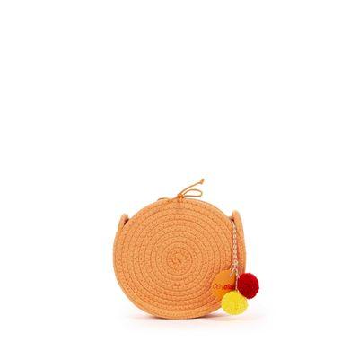 Bolsa Crossbody Cloe Girls Tejido en Color Naranja